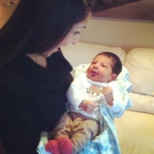 me and baby iyla